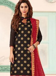 Black and Maroon Trendy Churidar Salwar Kameez