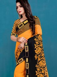 Black and Mustard Festival Casual Saree