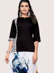 Black and White Color Casual Kurti