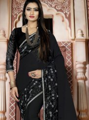 Black Art Silk Traditional Designer Saree