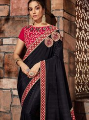 Black Art Silk Zari Designer Saree