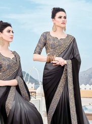 Black Border Georgette Trendy Saree