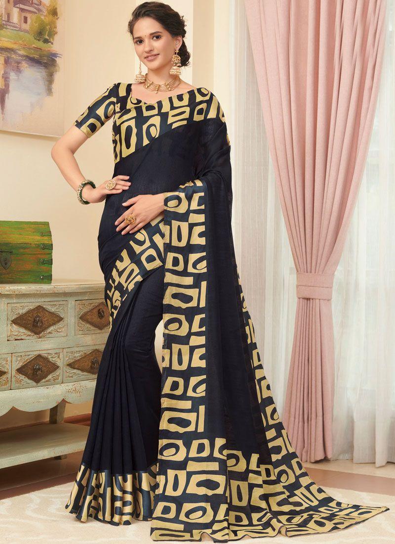 Black Casual Classic Saree