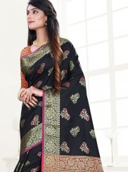 Black Ceremonial Designer Traditional Saree