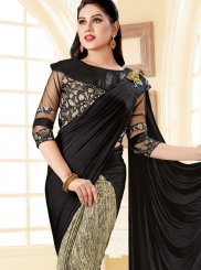 Black Ceremonial Lycra Trendy Saree