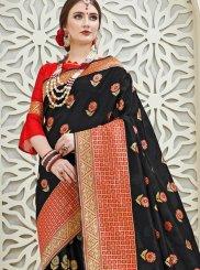 Black Ceremonial Traditional Designer Saree