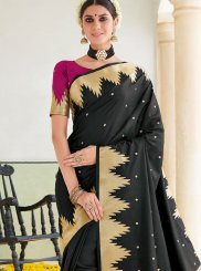 Black Ceremonial Traditional Saree