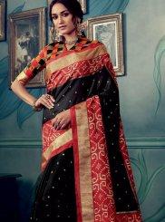 Black Ceremonial Traditional Saree