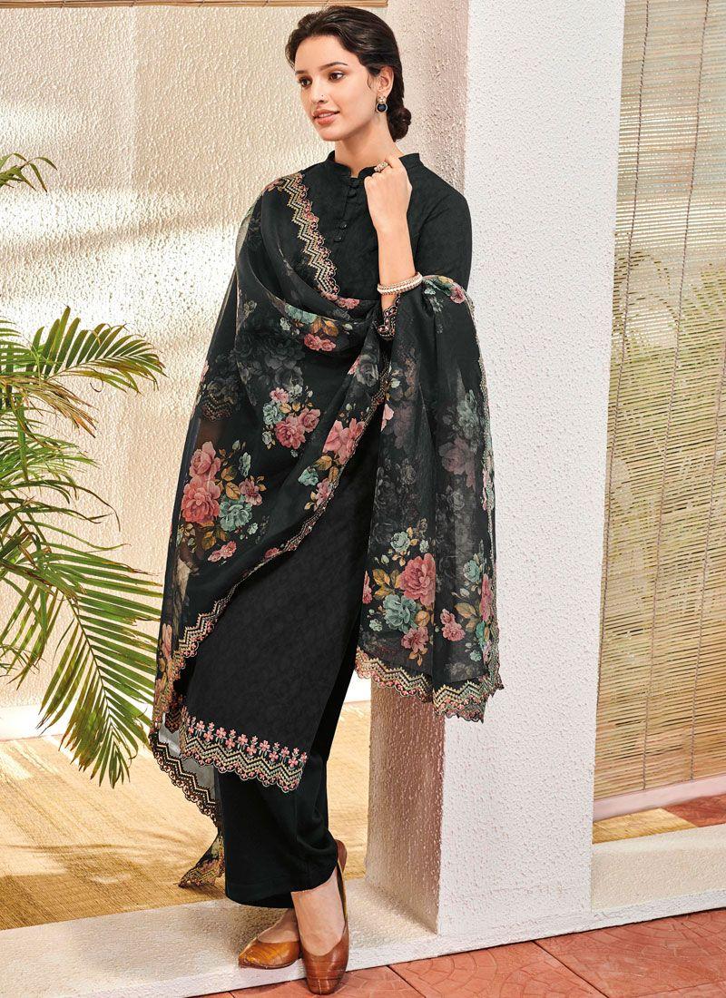 Black Color Pant Style Suit