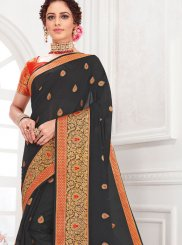 Black Color Traditional Designer Saree