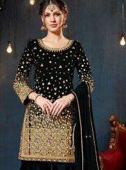 Black Designer Patiala Salwar Kameez
