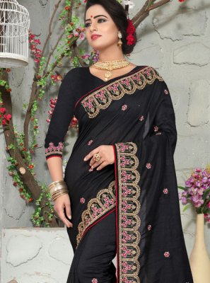 Black Designer Traditional Saree