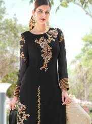 Black Embroidered Reception Palazzo Salwar Kameez