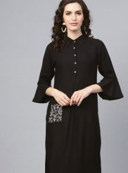 Black Fancy Casual Party Wear Kurti