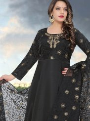 Black Fancy Fancy Fabric Readymade Anarkali Suit