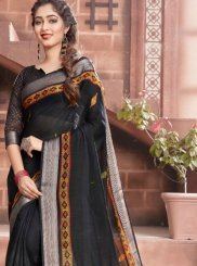 Black Festival Cotton Classic Saree