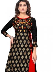 Black Festival Party Wear Kurti