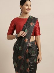Black Festival Traditional Designer Saree