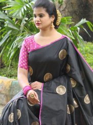 Black Festival Traditional Saree