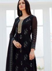 Black Georgette Palazzo Designer Salwar Suit
