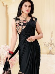 Black Lycra Trendy Saree