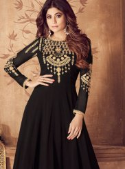 Black Mehndi Anarkali Suit
