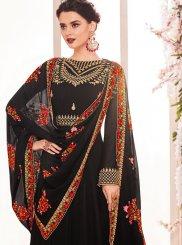 Black Mehndi Georgette Anarkali Salwar Kameez
