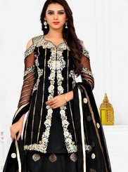 Black Mehndi Net Anarkali Salwar Suit