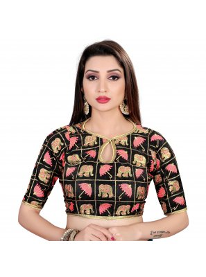 Black Party Brocade Designer Blouse