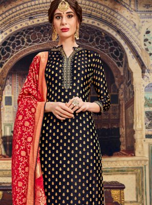 Black Party Trendy Palazzo Salwar Kameez