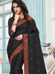 Black Patch Border Ceremonial Traditional Saree