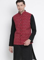 Black Plain Kurta Payjama With Jacket
