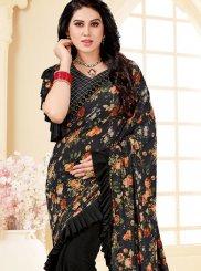 Black Print Trendy Saree