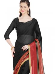 Black Printed Casual Saree