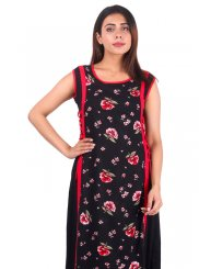 Black Rayon Reception Casual Kurti