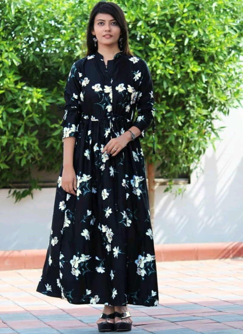 Black Readymade Designer Gown