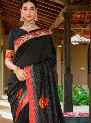 Black Sangeet Designer Traditional Saree