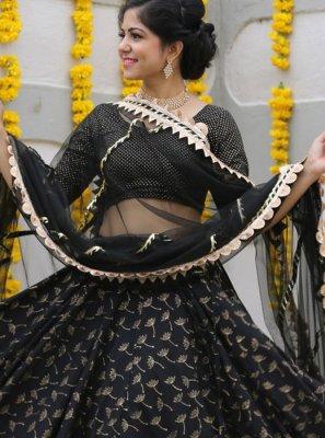 Black Sangeet Readymade Lehenga Choli