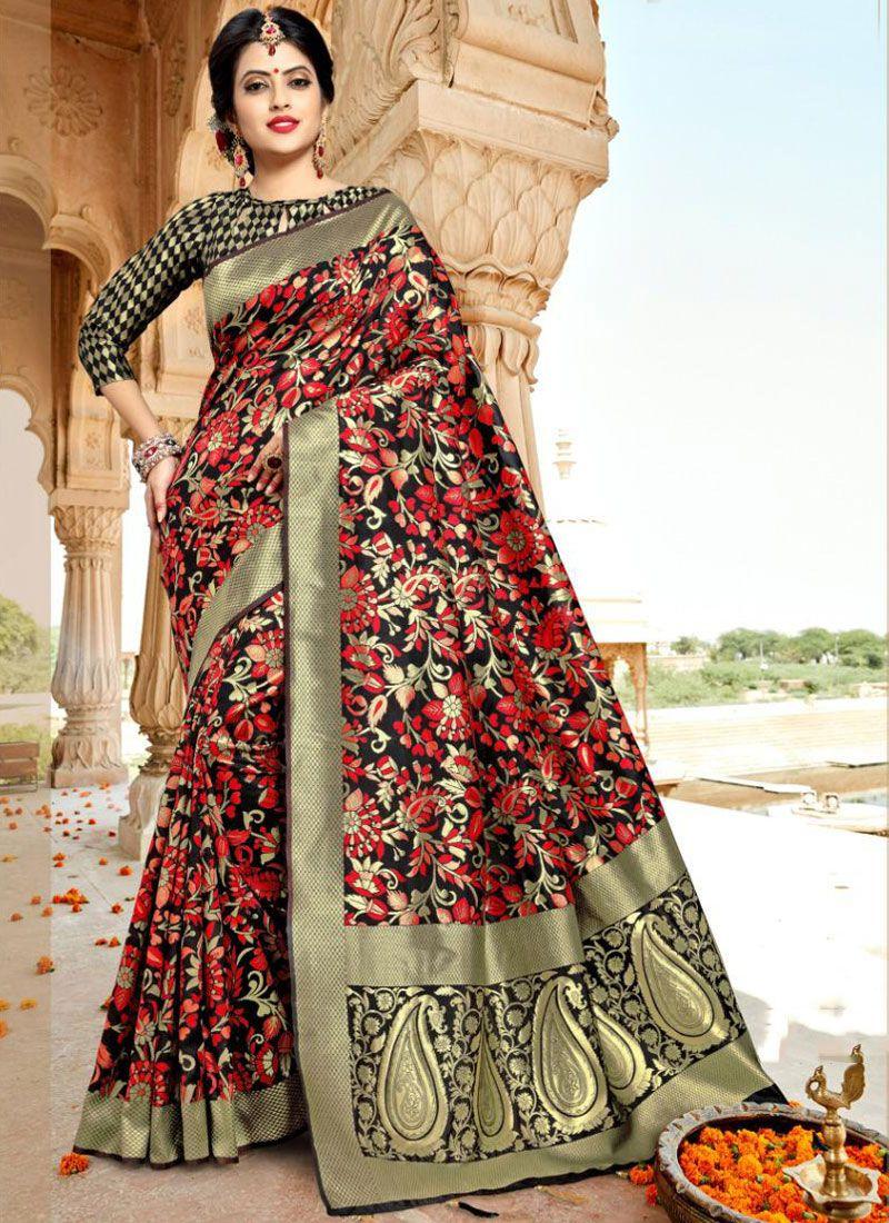 Black Silk Silk Saree
