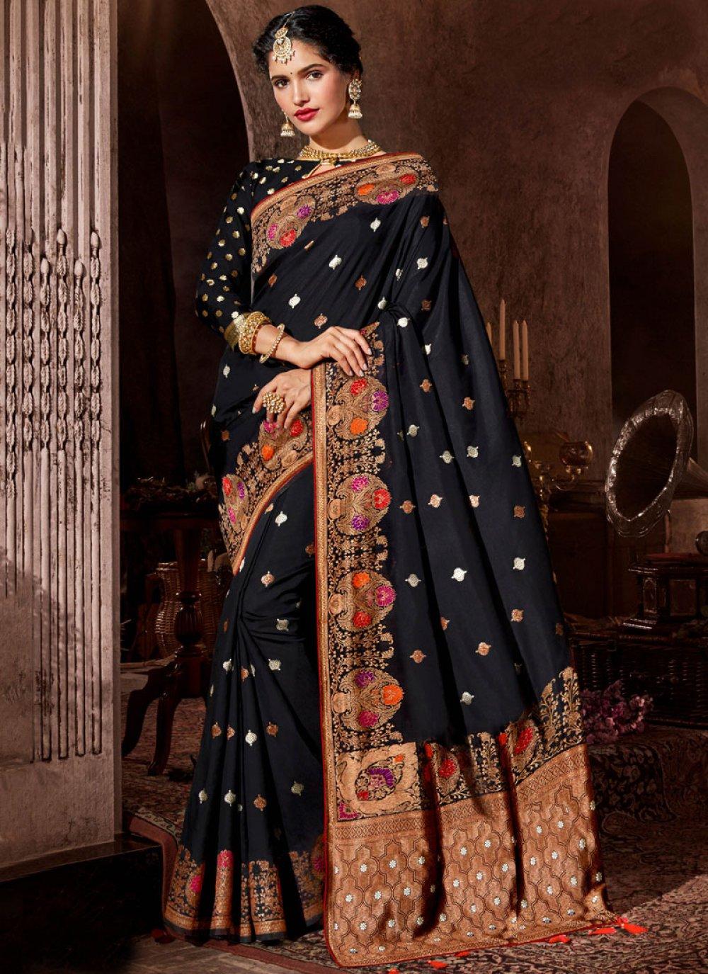 Black Stone Work Classic Designer Saree