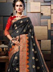 Black Traditional Saree