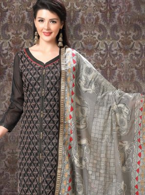 Black Trendy Churidar Suit