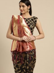 Black Tussar Silk Weaving Classic Saree