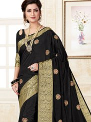 Black Uppada Silk Traditional Saree