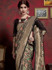 Black Weaving Art Silk Classic Saree