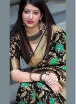Black Weaving Art Silk Designer Traditional Saree