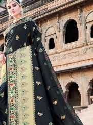 Black Weaving Art Silk Designer Traditional Saree