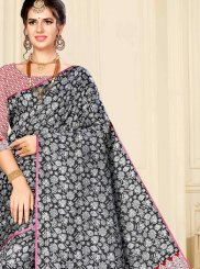 Black Weaving Designer Saree