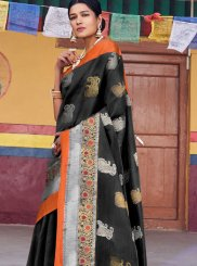 Black Weaving Designer Traditional Saree