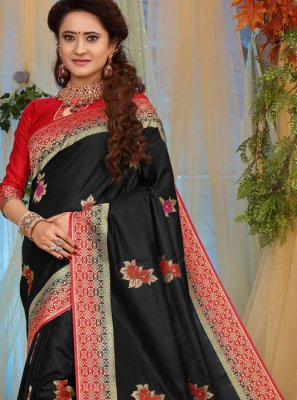 Black Weaving Traditional Designer Saree